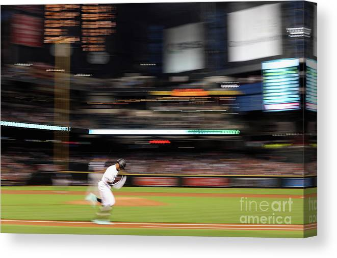 American League Baseball Canvas Print featuring the photograph San Diego Padres V Arizona Diamondbacks by Christian Petersen