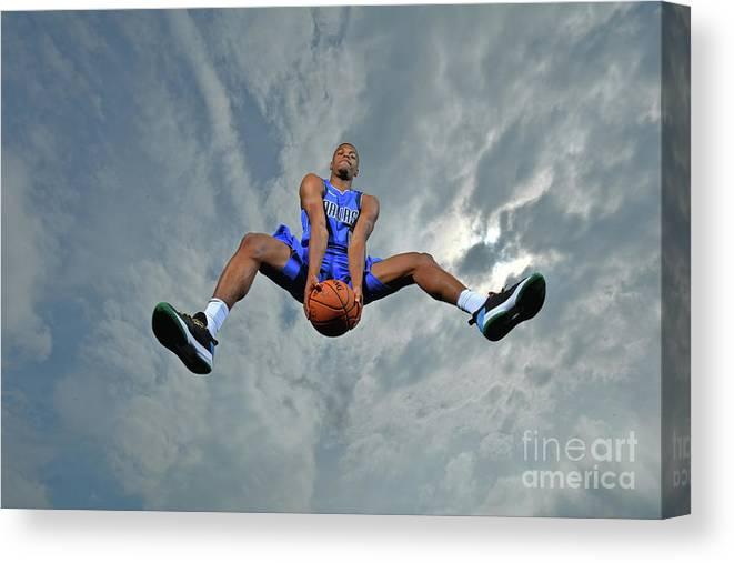 Nba Pro Basketball Canvas Print featuring the photograph 2017 Nba Rookie Photo Shoot by Jesse D. Garrabrant
