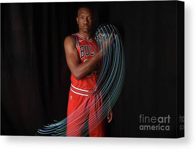 Nba Pro Basketball Canvas Print featuring the photograph 2018 Nba Rookie Photo Shoot by Brian Babineau