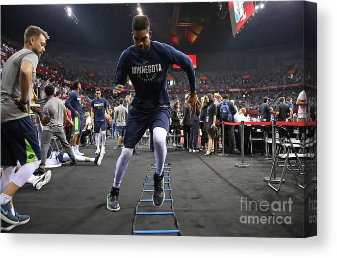 Event Canvas Print featuring the photograph 2017 Nba Global Games China Minnesota by David Sherman