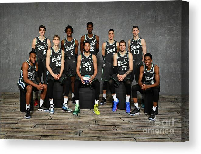 Nba Pro Basketball Canvas Print featuring the photograph 2019 Mtn Dew Ice Rising Stars by Jesse D. Garrabrant