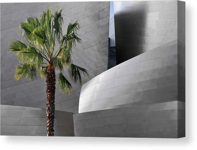 California Canvas Print featuring the photograph Disney Concert Hall by Mitch Diamond