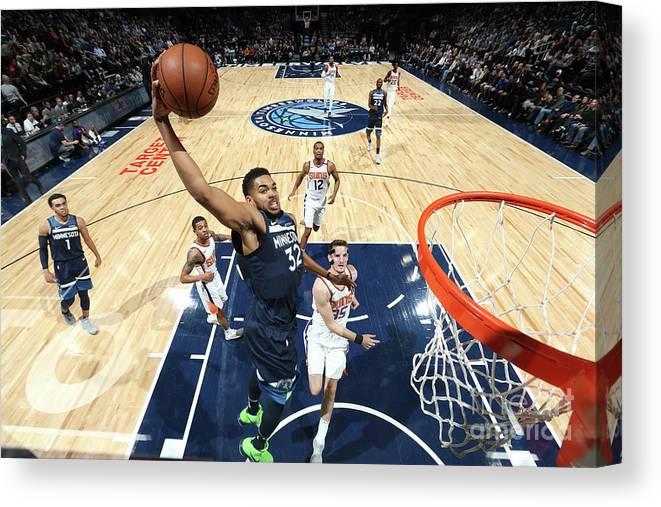 Nba Pro Basketball Canvas Print featuring the photograph Phoenix Suns V Minnesota Timberwolves by David Sherman