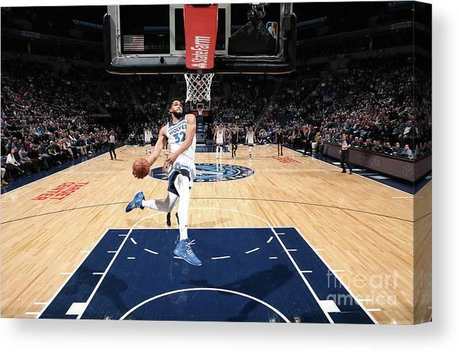 Nba Pro Basketball Canvas Print featuring the photograph Sacramento Kings V Minnesota by David Sherman