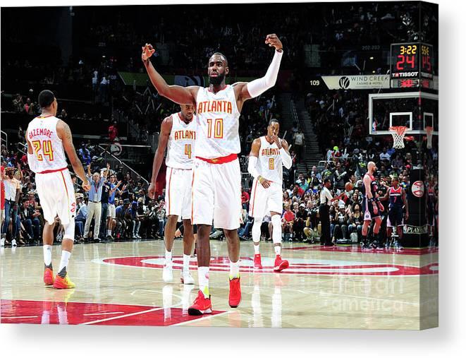 Atlanta Canvas Print featuring the photograph Washington Wizards V Atlanta Hawks - by Scott Cunningham