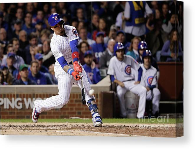 Championship Canvas Print featuring the photograph League Championship Series - Los by Jamie Squire