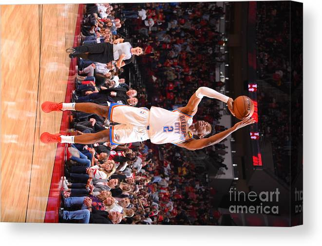 Nba Pro Basketball Canvas Print featuring the photograph Oklahoma City Thunder V Houston Rockets by Bill Baptist