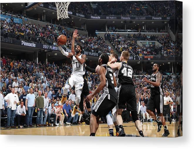 Playoffs Canvas Print featuring the photograph San Antonio Spurs V Memphis Grizzlies - by Joe Murphy