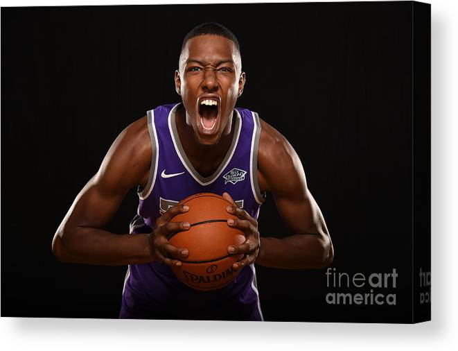 Nba Pro Basketball Canvas Print featuring the photograph 2017 Nba Rookie Photo Shoot by Brian Babineau