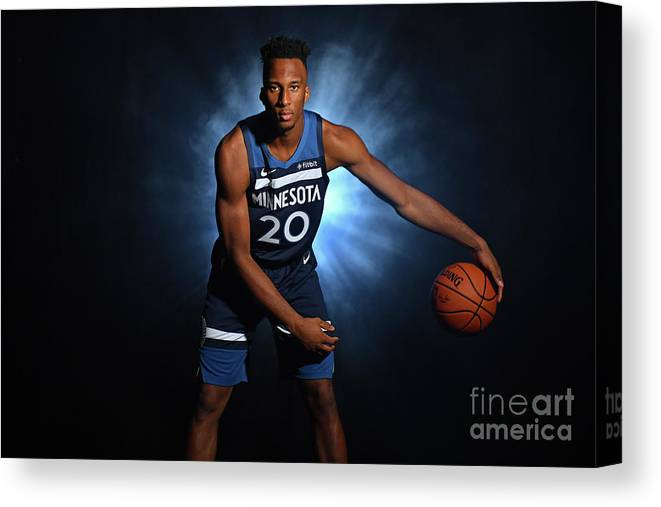 Nba Pro Basketball Canvas Print featuring the photograph 2018 Nba Rookie Photo Shoot by Jesse D. Garrabrant