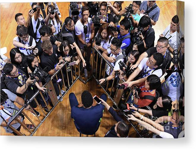 Event Canvas Print featuring the photograph 2017 Nba Global Games - China by David Dow