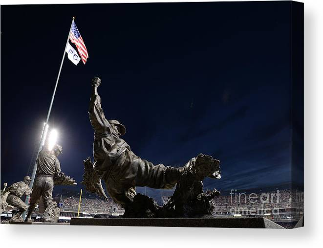 Crowd Canvas Print featuring the photograph Chicago White Sox V Detroit Tigers by Mark Cunningham