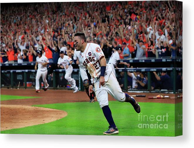 Game Two Canvas Print featuring the photograph League Championship Series - New York by Ronald Martinez