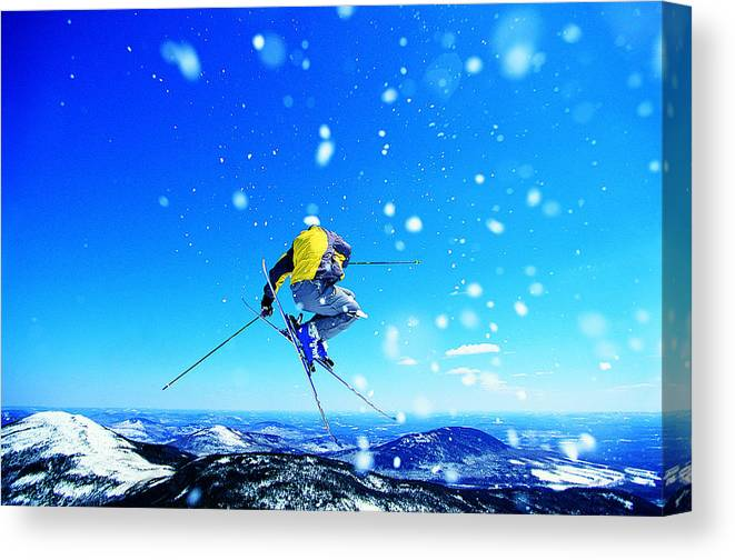 Skiing Canvas Print featuring the photograph Man Skiing by Digital Vision.