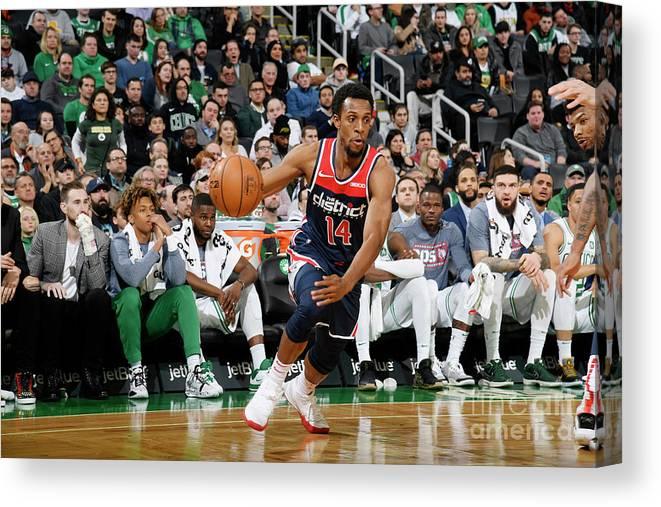 Nba Pro Basketball Canvas Print featuring the photograph Washington Wizards V Boston Celtics by Brian Babineau