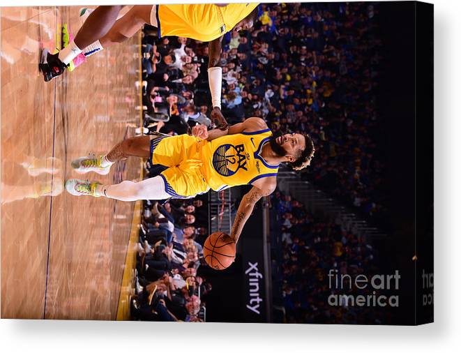 San Francisco Canvas Print featuring the photograph Charlotte Hornets V Golden State by Noah Graham