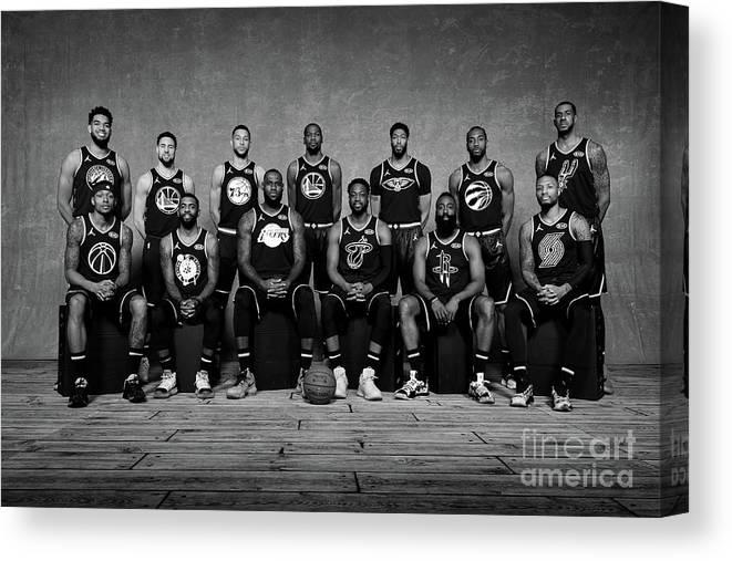 Nba Pro Basketball Canvas Print featuring the photograph 2019 Nba All Star Portraits by Jesse D. Garrabrant