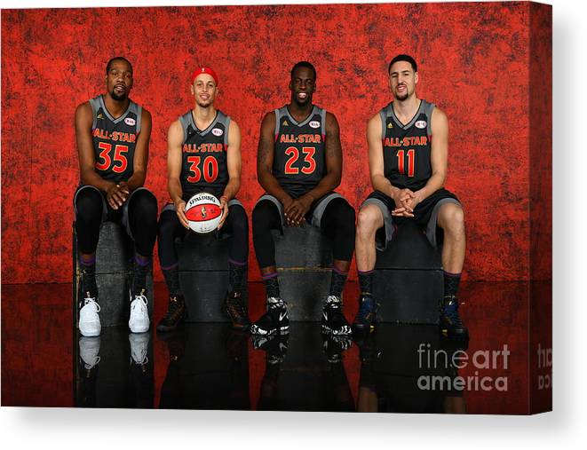 Event Canvas Print featuring the photograph Nba All-star Portraits 2017 by Jesse D. Garrabrant