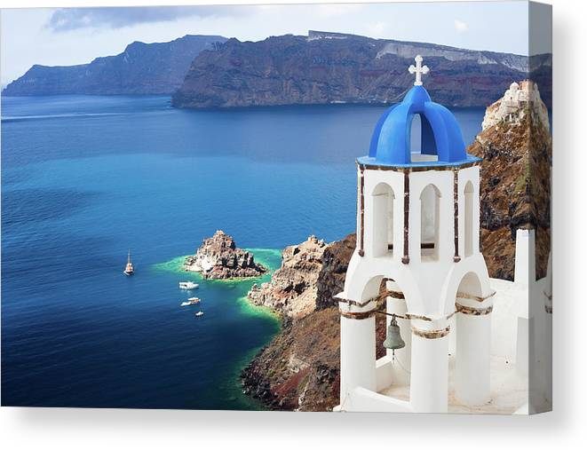 Greek Culture Canvas Print featuring the photograph Santorini, Greece by Traveler1116