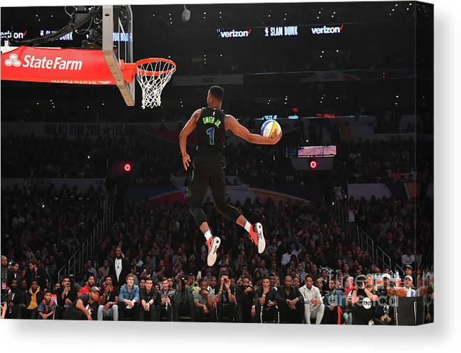 Event Canvas Print featuring the photograph Verizon Slam Dunk Contest 2018 by Jesse D. Garrabrant