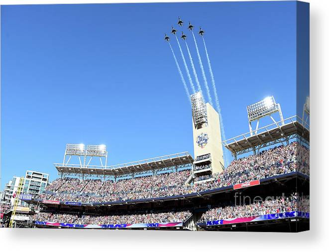 American League Baseball Canvas Print featuring the photograph 87th Mlb All-star Game by Harry How