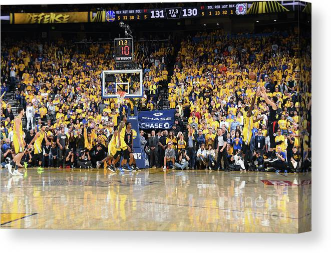 Playoffs Canvas Print featuring the photograph La Clippers V Golden State Warriors - by Andrew D. Bernstein