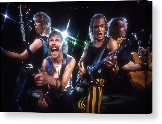 Heavy Metal Canvas Print featuring the photograph Photo Of Scorpions by Michael Ochs Archives