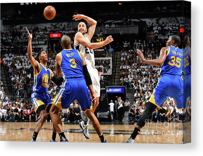 Playoffs Canvas Print featuring the photograph Golden State Warriors V San Antonio by Jesse D. Garrabrant