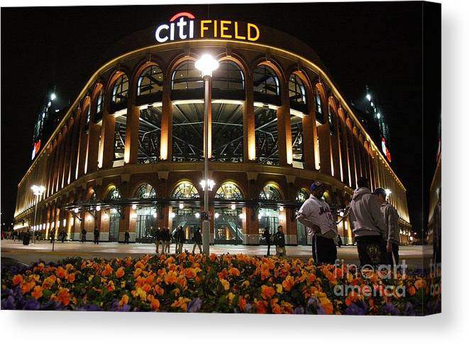 Defeat Canvas Print featuring the photograph San Diego Padres V New York Mets by Jim Mcisaac