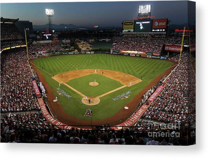Atmosphere Canvas Print featuring the photograph 81st Mlb All-star Game by Michael Buckner
