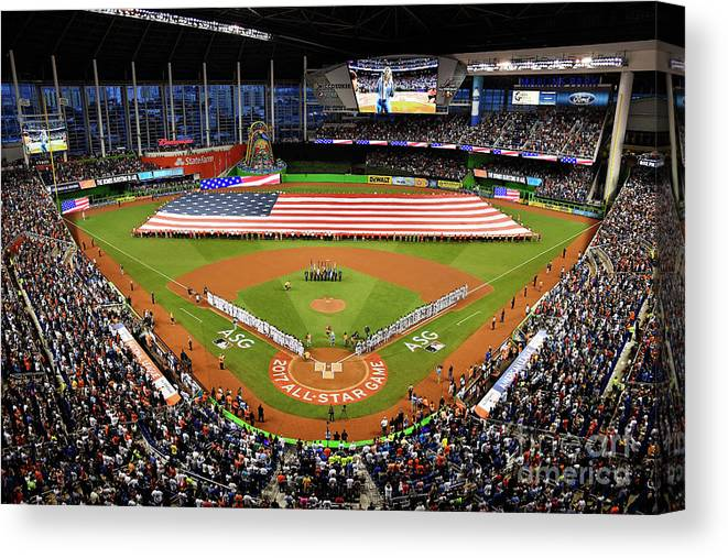 American League Baseball Canvas Print featuring the photograph 88th Mlb All-star Game by Mark Brown