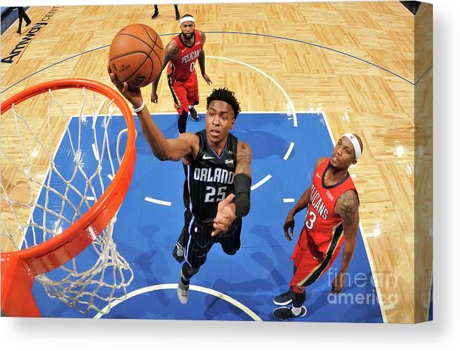 Nba Pro Basketball Canvas Print featuring the photograph New Orleans Pelicans V Orlando Magic by Fernando Medina