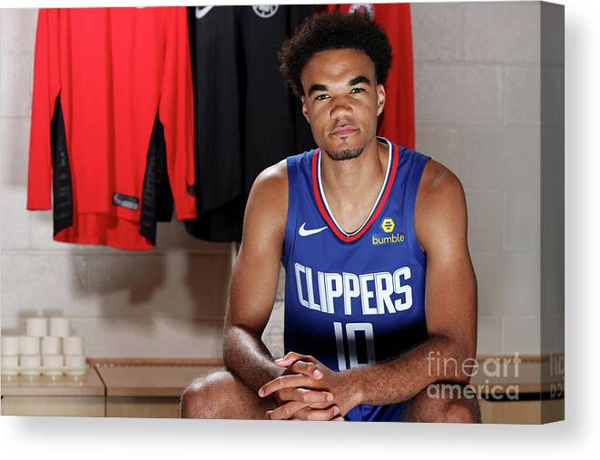Jerome Robinson Canvas Print featuring the photograph 2018 Nba Rookie Photo Shoot by Nathaniel S. Butler