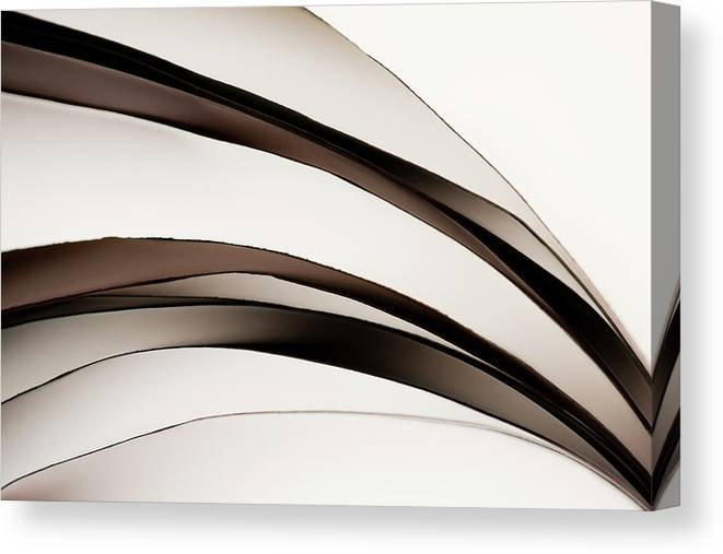 White Background Canvas Print featuring the photograph Abstract Design Of Paper Currency by Johner Images