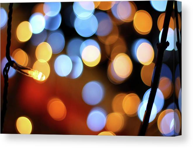 Outdoors Canvas Print featuring the photograph Abstract Spotted Color Pattern Dot Of by Hidehiro Kigawa