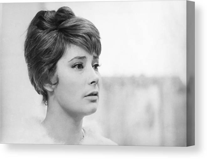 Actress Canvas Print featuring the photograph Actress Tatiana Samoylova In 1966 by Keystone-france