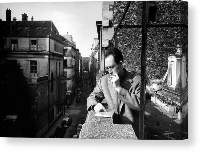 Timeincown Canvas Print featuring the photograph Albert Camus by Loomis Dean