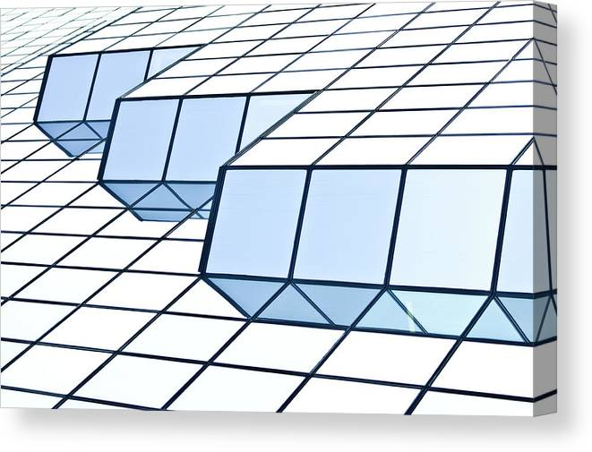 Rectangle Canvas Print featuring the photograph Almost Pure Geometry by Daniel Kulinski