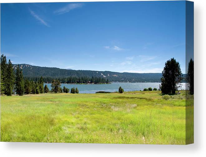 Scenics Canvas Print featuring the photograph Alpine Mountian Lake And Meadow by Alynst