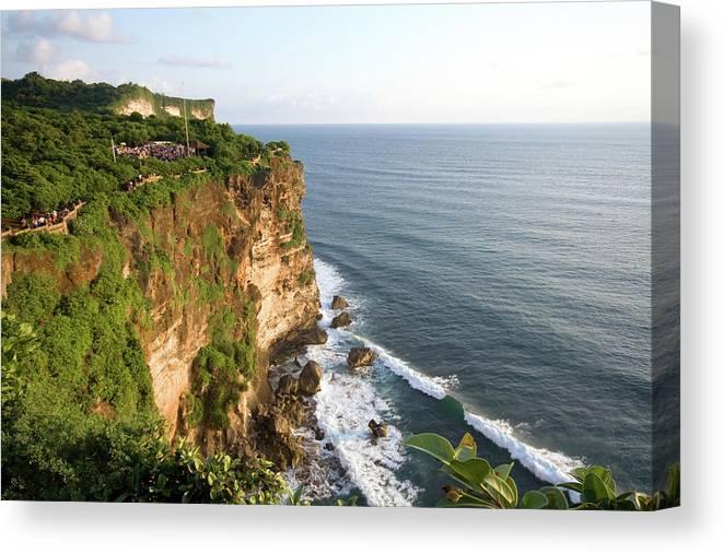 Scenics Canvas Print featuring the photograph Amazing Views At Uluwatu, Bali by Tuomas Lehtinen