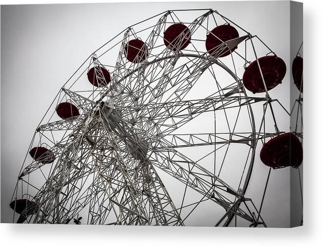 Empty Canvas Print featuring the photograph Amusement Park by Aluma Images