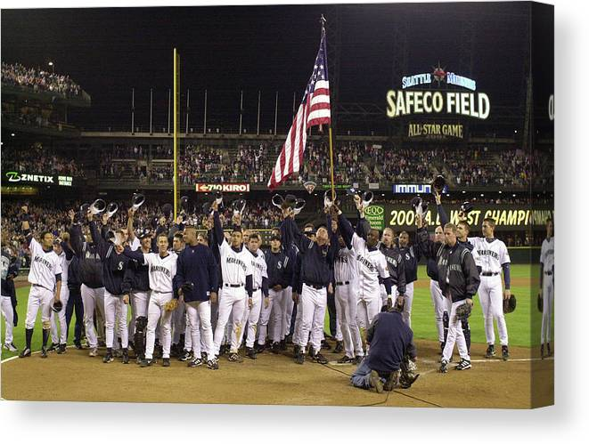 Of Anaheim Canvas Print featuring the photograph Angels V Mariners X by Otto Greule Jr