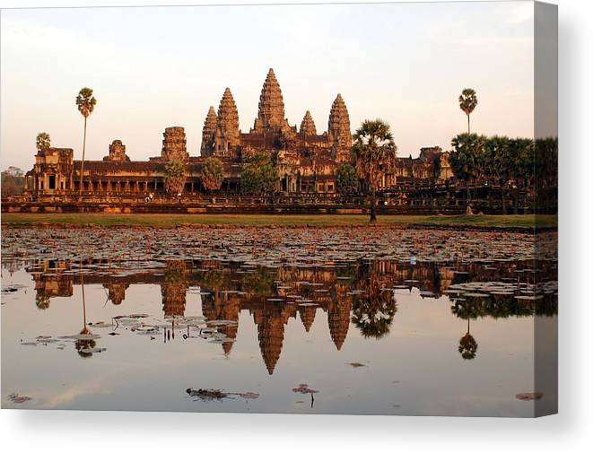 Tranquility Canvas Print featuring the photograph Angkor Wat - Siem Reap - Cambodia by By Lionel Arnould