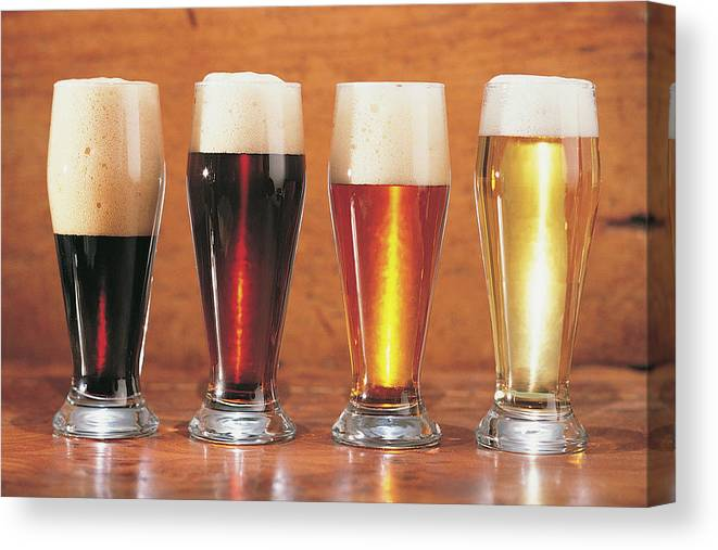 Stout Canvas Print featuring the photograph Assorted Beers And Ales by Comstock