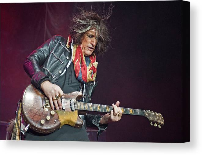 Event Canvas Print featuring the photograph Bad Company & Joe Perry Perform At by Neil Lupin