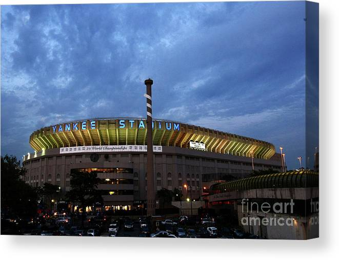 American League Baseball Canvas Print featuring the photograph Baltimore Orioles V New York Yankees by Chris Mcgrath