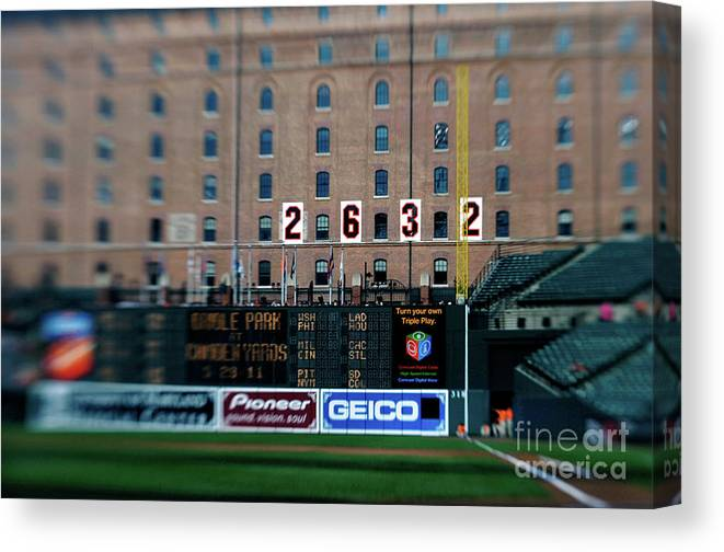 Hanging Canvas Print featuring the photograph Baseball - Cal Ripken Hall Of Fame by Icon Sports Wire