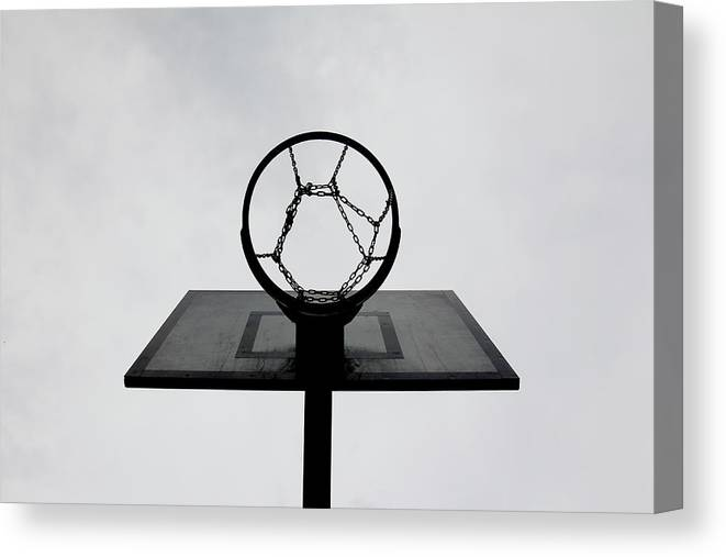 Outdoors Canvas Print featuring the photograph Basketball Hoop by Christoph Hetzmannseder
