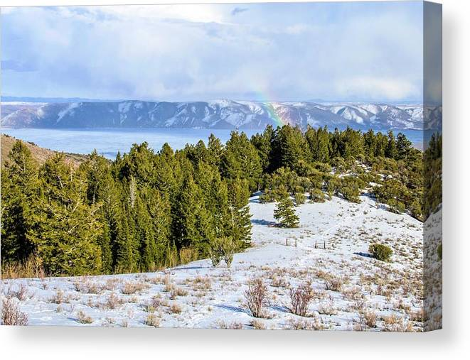 Tranquility Canvas Print featuring the photograph Bear Lake Scenic Byway by ©anitaburke
