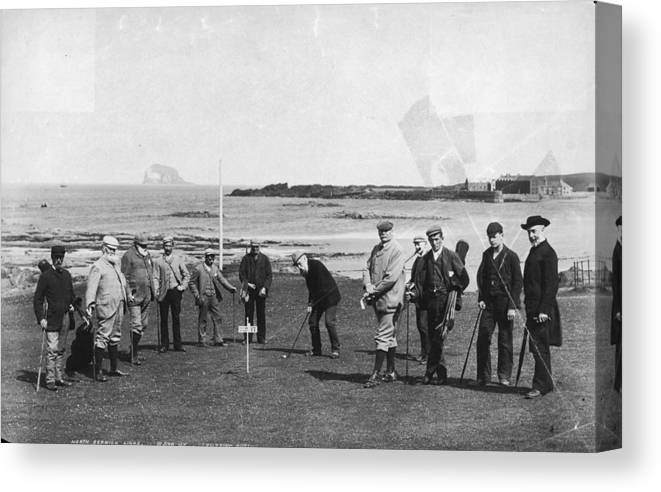 Scotland Canvas Print featuring the photograph Berwick Links by James Valentine